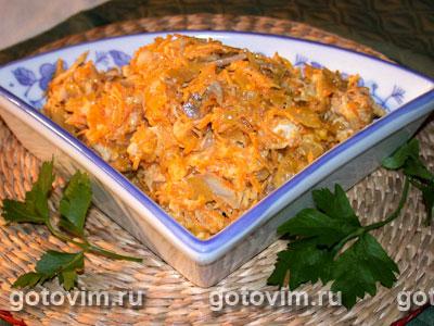 Салат из моркови с курицей. Фотография рецепта