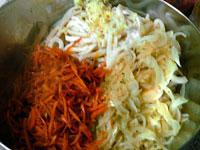 Острый салат из кальмаров, Шаг 04