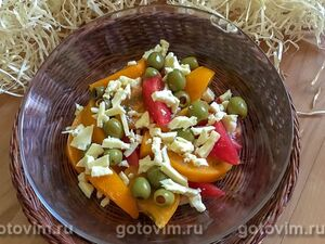 Овощной салат с заправкой из фризанте