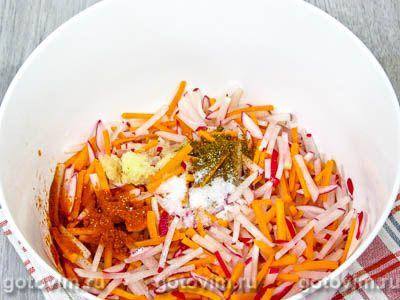 Редиска по-корейски с морковью на зиму, Шаг 04