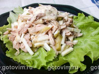 Салат из цыпленка с сельдереем. Фотография рецепта