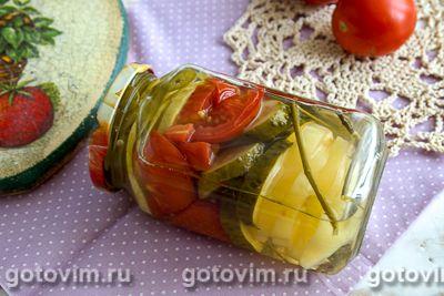 Салат из огурцов и помидоров на зиму «Слойка»