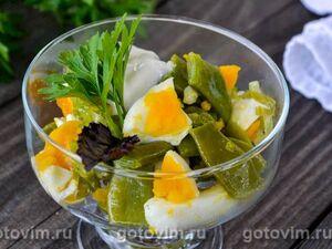 Салат из стручковой фасоли и яйца
