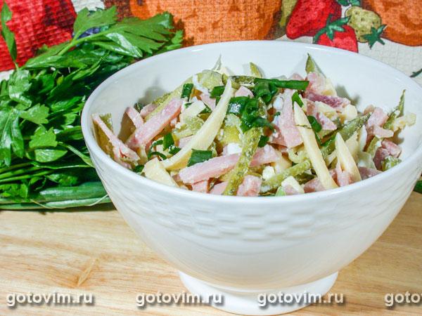 Салат из сыра и ветчины с ветчинойы с фото