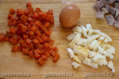 Салат из языка со свеклой и овощами, Шаг 02