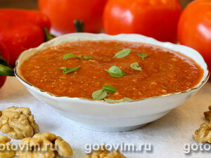 Соус сацебели из помидоров с грецкими орехами
