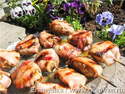 Шампиньоны на гриле рецепты на мангале