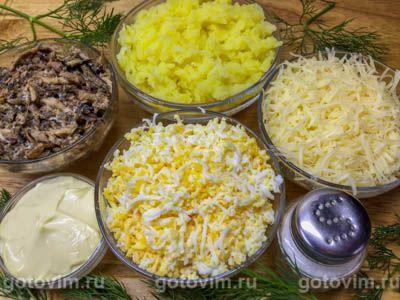 Шарики из шпрот с картошкой, яйцом и майонезом