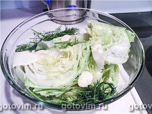 Закуска из маринованного зеленого салат (Шарлота)