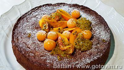 Шоколадный кекс с вареной сгущенкой