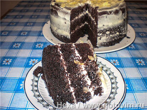 Торт в мультиварке «Шоколад на кипятке»