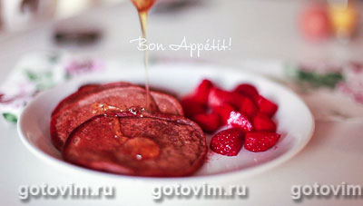 Шоколадные оладьи на кефире. Фотография рецепта