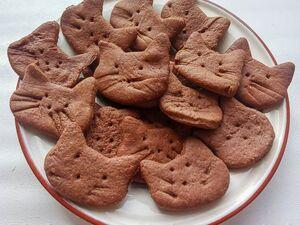 Шоколадное печенье из ржаной муки на кокосовом масле