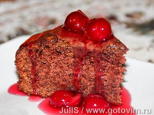 Шоколадный пирог на кефире (без яиц)