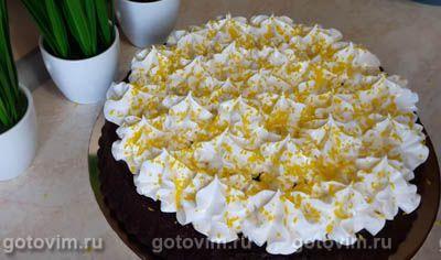 Шоколадный торт с зефирным кремом