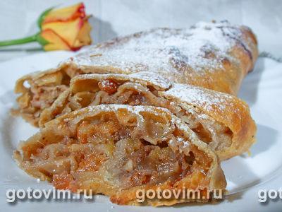 штрудель рецепт с фото с яблоком