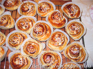 Шведские булочки с корицей (Kanelbulle)