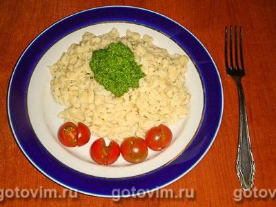 Фотография рецепта Шпецле с соусом из рукколы