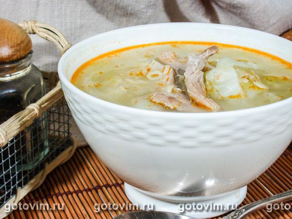 Острый суп с капустой. Фотография рецепта