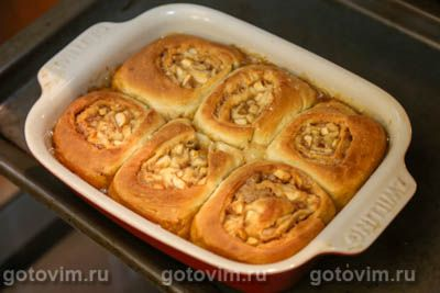 Яблочные синнабоны с карамельной пропиткой (Sticky Caramel Apple Cinnabon), Шаг 17