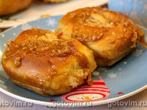 Яблочные синнабоны с карамельной пропиткой (Sticky Caramel Apple Cinnabon)