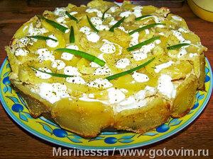 Сытный пирог (из картофеля и мясного фарша)
