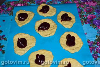 Сладкие булочки с малиновым повидлом, Шаг 06