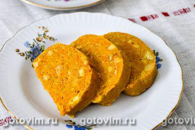 Сладкая колбаска из печенья, моркови и тыквы