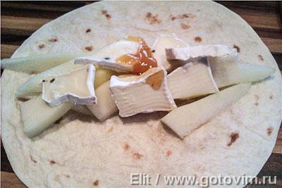 Cладкие тортильи с фруктами и сыром, Шаг 01