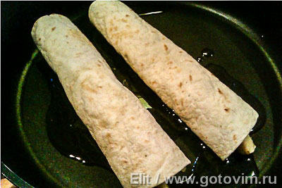 Cладкие тортильи с фруктами и сыром, Шаг 04