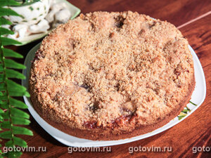 Сливовый пирог с ореховым штрейзелем