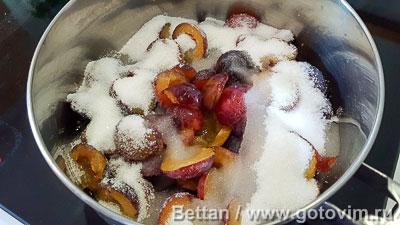 Сливовый пирог с кокосовой крошкой, Шаг 03