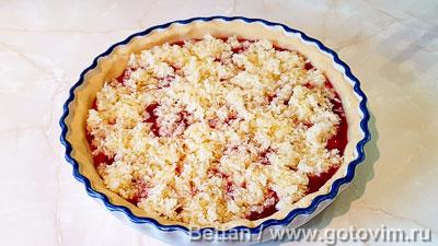 Сливовый пирог с кокосовой крошкой, Шаг 08