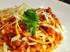 Спагетти под соусом аматричана