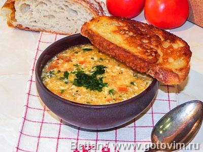Фотография рецепта Испанский чесночный суп