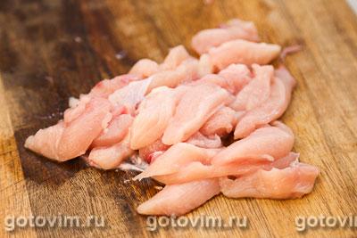 Спринг роллы с курицей и овощами, Шаг 01