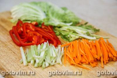 Спринг роллы с курицей и овощами, Шаг 02