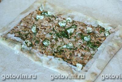 Штрудель с лисичками и сыром моцарелла, Шаг 06