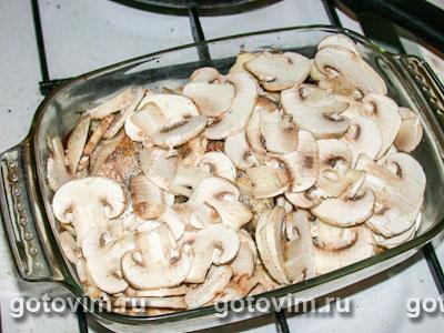 Судак, запеченный с грибами и сливками, Шаг 04