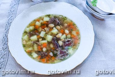 Суп из баранины с белой фасолью. Фотография рецепта