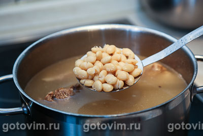 Суп из баранины с белой фасолью, Шаг 02
