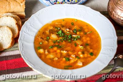 Суп с бараниной и нутом. Фотография рецепта