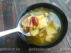 Мясной суп с бобовыми