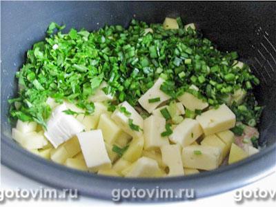 Суп с брынзой в мультиварке, Шаг 04