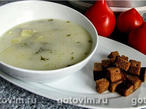 Суп с брынзой в мультиварке
