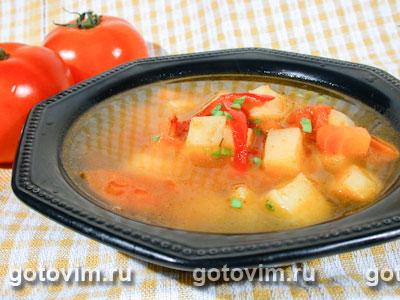 Суп с печеными овощами