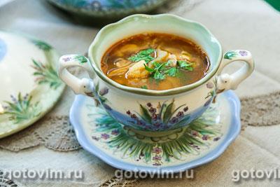 Фасолевый суп с ребрышками. Фотография рецепта