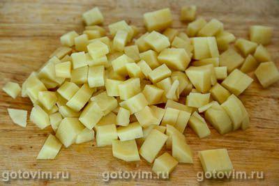 Суп с фрикадельками и зеленым горошком, Шаг 03