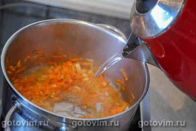 Суп с фрикадельками и зеленым горошком, Шаг 06