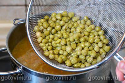 Суп с фрикадельками и зеленым горошком, Шаг 08